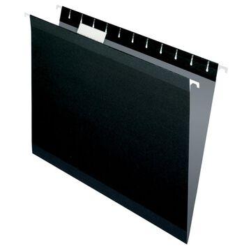 Pendaflex Premium Reinforced Color Hanging Folders, Letter Size, Black, Pack Of 25