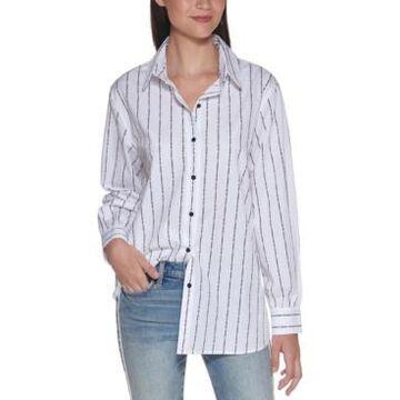 Karl Lagerfeld Paris Cotton Logo-Stripe Shirt