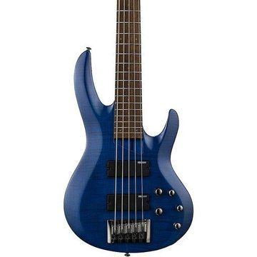 ESP LTD B-205FM 5-String Bass See-Thru Blue
