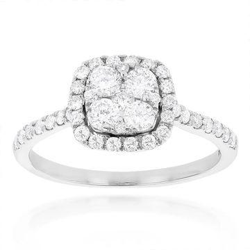 Luxurman 14k Gold 1ct TDW Diamond Engagement Ring