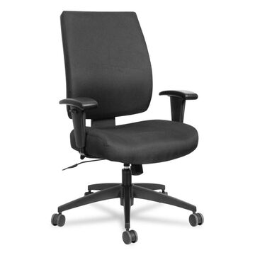 Alera Wrigley Series High Performance Mid-Back Synchro-Tilt Task Chair, Supports up to 275 lbs, Black Seat/Back, Black Base (Clear)
