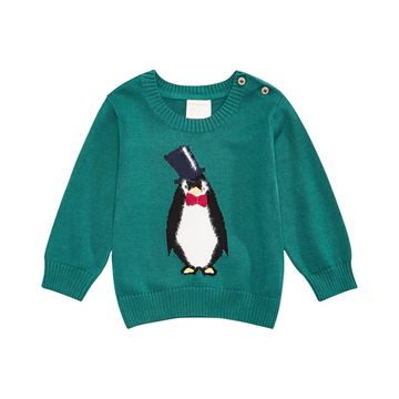 Baby Boys Penguin Sweater, Created For Macy's