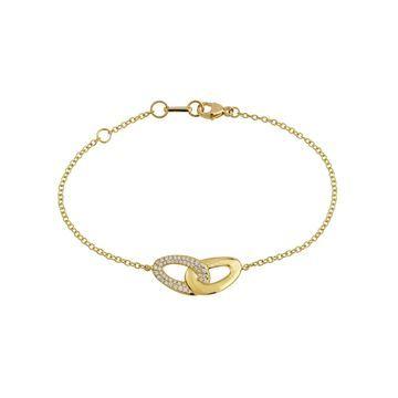 18K Cherish Diamond Pave Links Bracelet