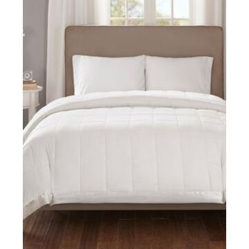 Madison Park Cambria Full/Queen Down Alternative Blanket, Embossed Oversized Reversible Quilted Microfiber with 3M Scotchgard Bedding