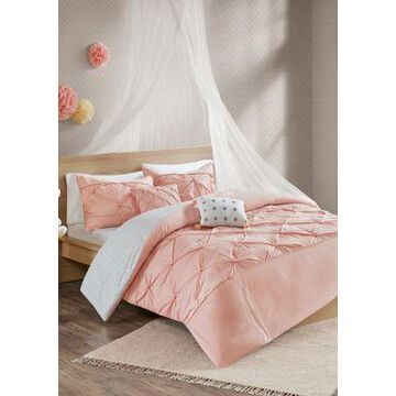 Jla Home Aurora Reversible Duvet Cover Set - -