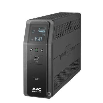 APC Back-UPS Pro 10-Outlet Tower Uninterruptible Power Supply, 1,500VA/900 Watts, BN1500M2