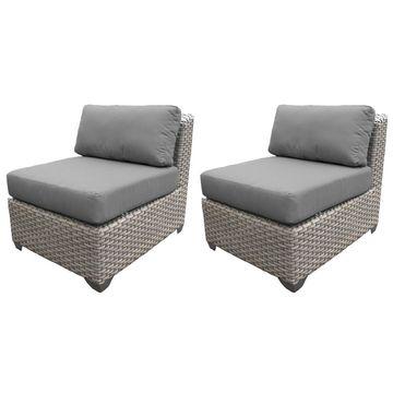 TK Classics Florence Armless Sofa Pieces - (Set of 2)