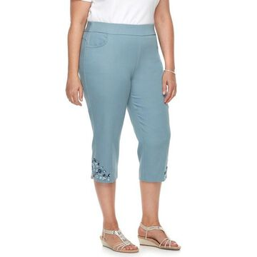 Plus Size Briggs Embroidered Capris