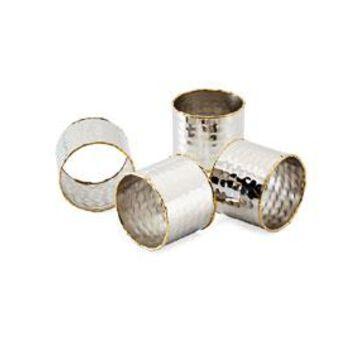 Stainless Steel Napkin Rings, Set of 4