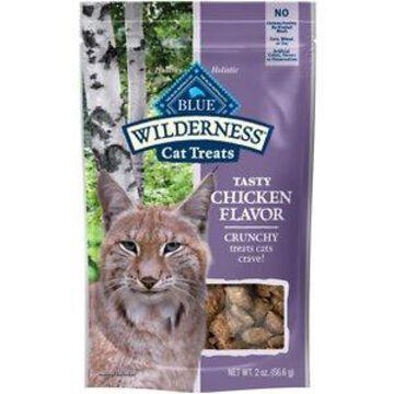 Blue Buffalo Wilderness Chicken Formula Crunchy Grain-Free Cat Treats, 2-oz bag, bundle of 2