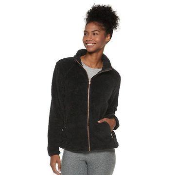 Women's Adrienne Vittadini Sherpa Zip Up Jacket