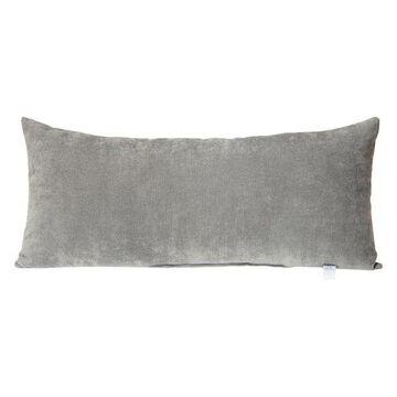 Swizzle Gray Velvet Bolster Pillow