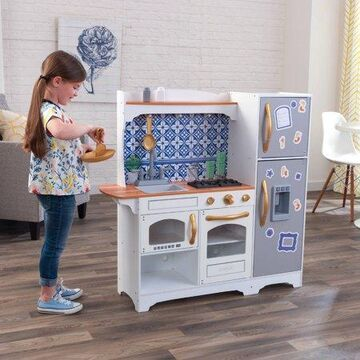 KidKraft Mosaic Magnetic Play Kitchen with EZ Kraft Assembly