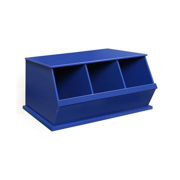 Three Bin Stackable Storage Cubby