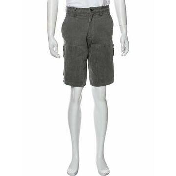 Flat Front Shorts Grey