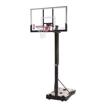 "Spalding NBA 54"" Portable Screw Jack Basketball Hoop with Polycarbonate Backboard"