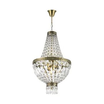 Worldwide Lighting Metropolitan 5-Light Antique Bronze Finish and Clear Crystal Chandelier