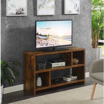 Convenience Concepts Northfield TV Stand Console with Shelves, Barnwood