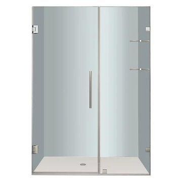 Aston Nautis GS Frameless Hinged Shower Door, Stainless Steel, 47