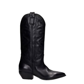 Elena Iachi Texan Boots In Black Leather