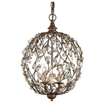 Currey and Company 9652 Crystal Bud Sphere Chandelier - Cupertino