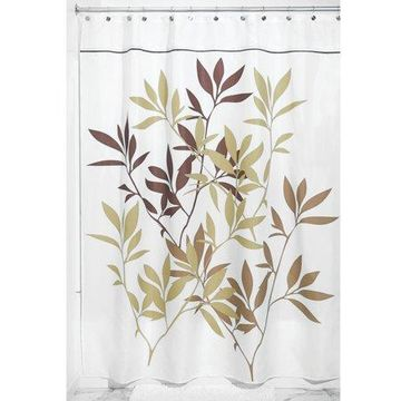 InterDesign Leaves Fabric Shower Curtain, Stall 54