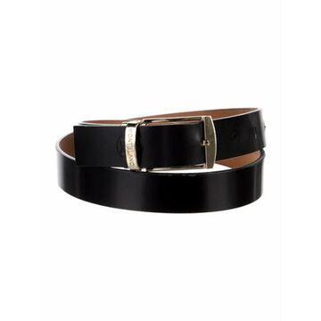 Skinny Leather Belt Black