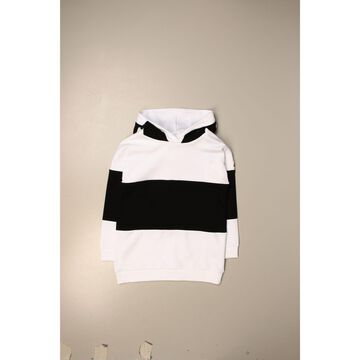 Moncler Maxi Sweatshirt In Cotton With Logo Bands