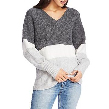 1.state Ribbed Jersey Stripe Sweater