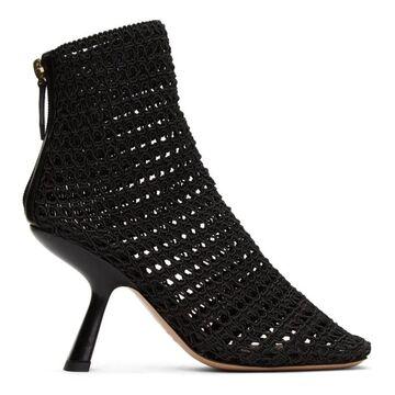 Nicholas Kirkwood Black Alba Macrame Ankle Boots