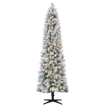 7Ft Pre-Lit Artificial Slim Christmas Tree, Clear Lights by Ashland   Michaels