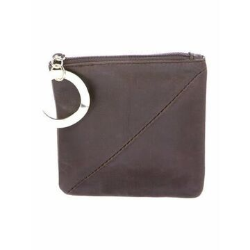 Leather Coin Pouch Brown