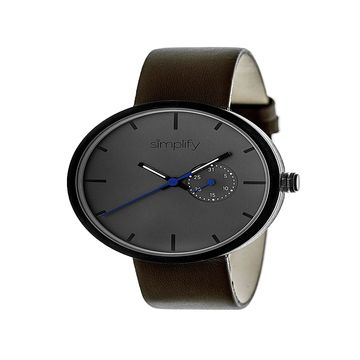 Simplify Unisex Brown Strap Watch-Sim3906