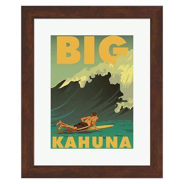 "Metaverse Art ""Big Kahuna"" Framed Wall Art, Multicolor, Small"