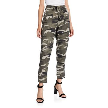 Cropped Camo Cargo Pants