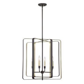 Quoizel Cycle 4-Light Foyer Piece in Western Bronze