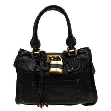 Chloe Black Leather Paddington Tote