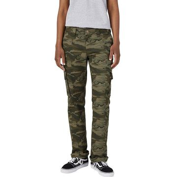 Women's Dickies Relaxed Stretch Straight-Leg Cargo Pants, Size: 14 Regular, Green