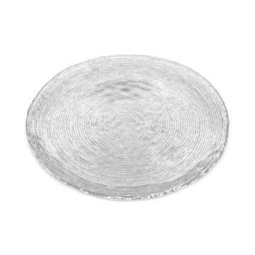 """Noritake Hammock 14.5"""" Round Glass Platter, Created for Macy's"""