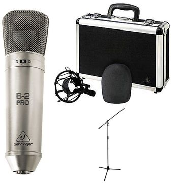 Behringer B-2 Pro Dual-Diaphragm Multi-Pattern Studio Condenser Microphone w/ Stand