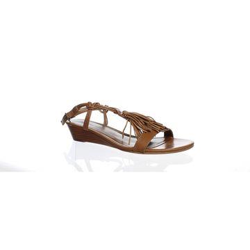 Bernardo Womens Court Luggage Ankle Strap Heels Size 8