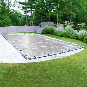 Robelle 15-Year XL Silver Rectangular Winter Pool Cover, 20 x 40 ft. Pool