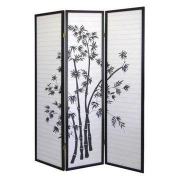 Ore International 3-Panel Room Divider, Bamboo