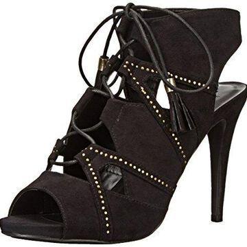 Call It Spring Women's Duchess Dress Sandal, Black Nubuck, 6 B US