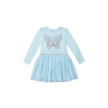 Little Girls Long Sleeve Graphic Tutu Dress