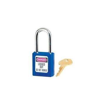 Master Lock No. 410 Lightweight Xenoy Safety Lockout Padlock, 6 Pin, Blue