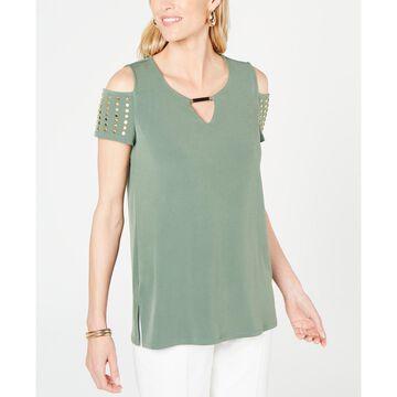 Embellished Cold-Shoulder Top, Created for Macy's