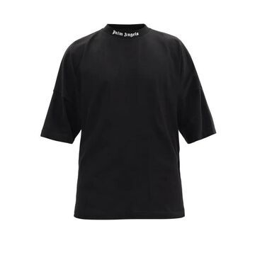 Palm Angels - Logo-print Cotton-jersey T-shirt - Mens - Black