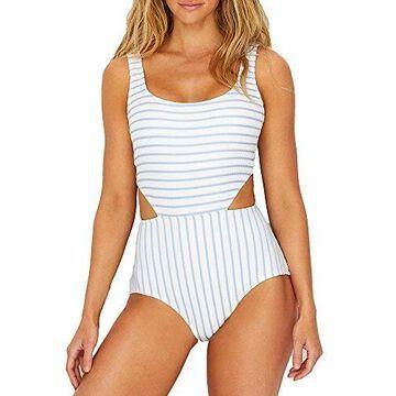Anne Cole Studio Women's Striped Textured Sexy One Piece