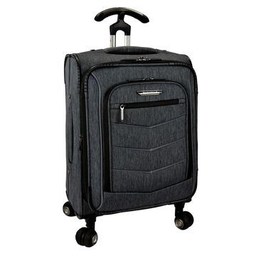 Travelers Choice Silverwood 21-inch Expandable Carry On Spinner Upright Suitcase (Grey)